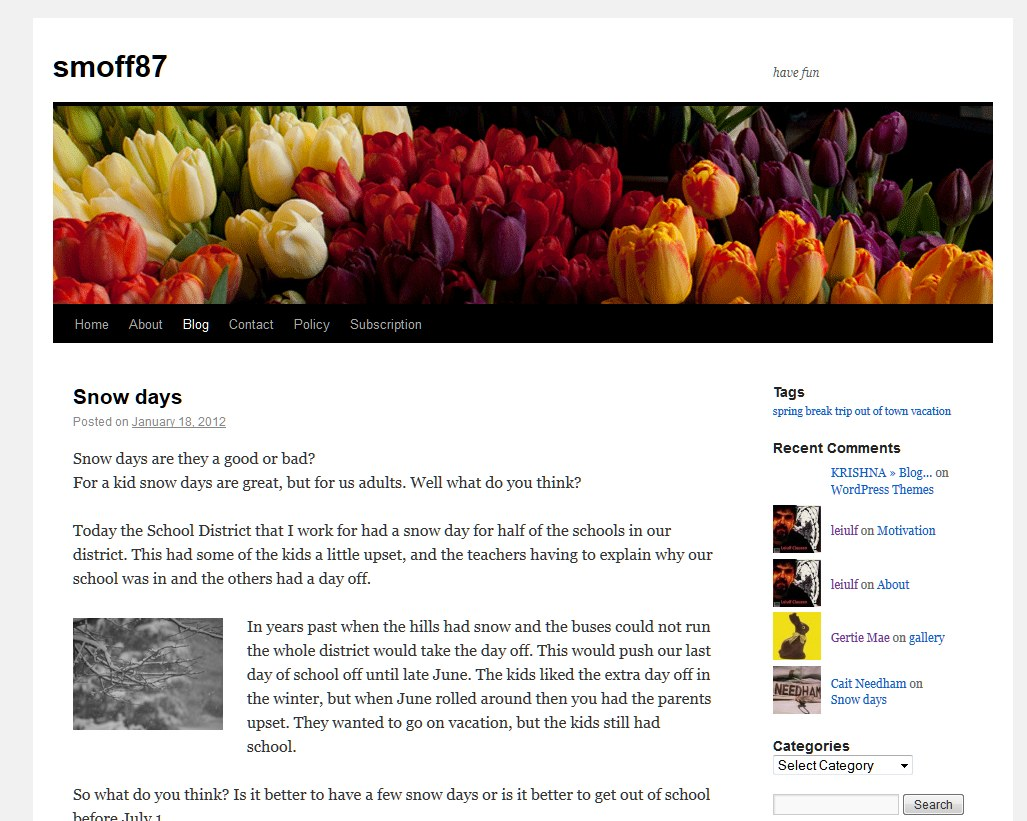 how to change front page on wordpress