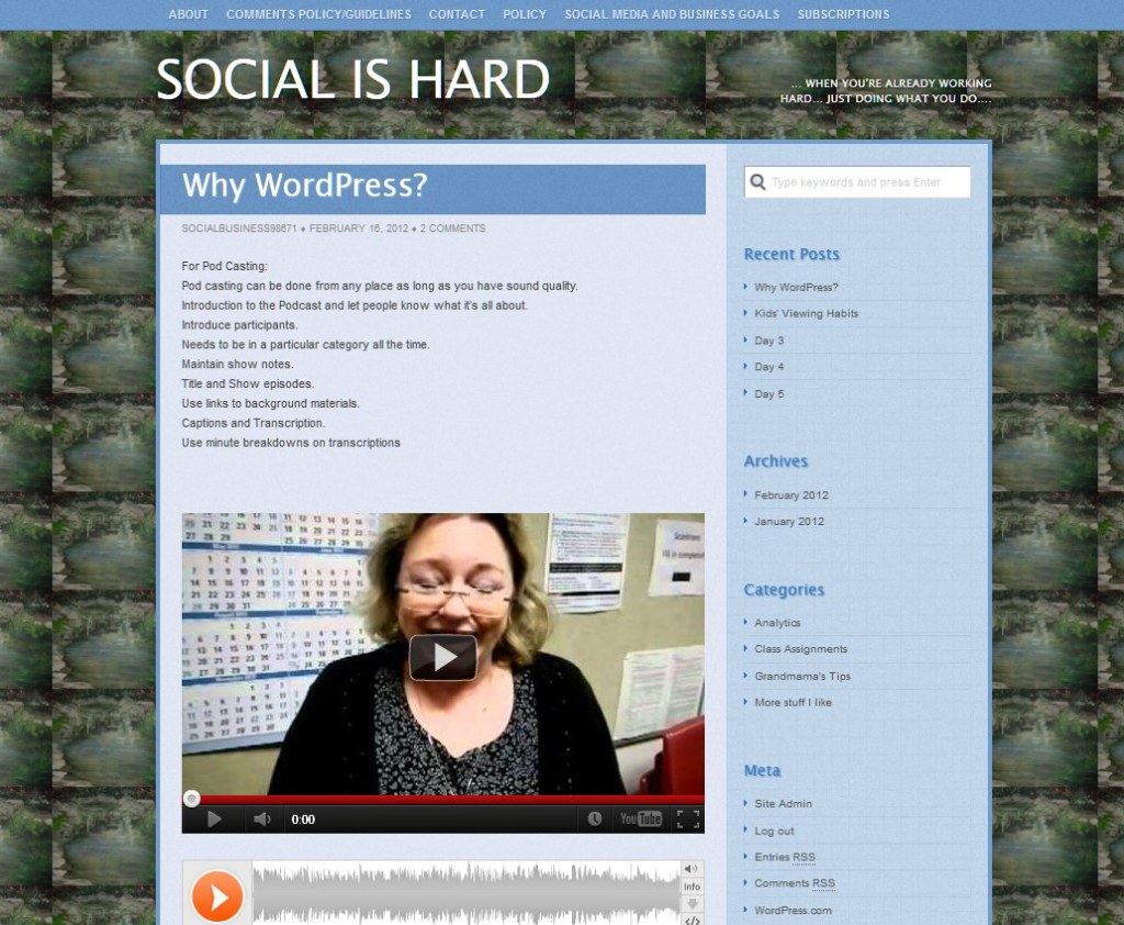 social is hard alicia video and audio post