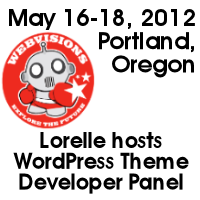 WebVisions 2012 WordPress Theme developers panel
