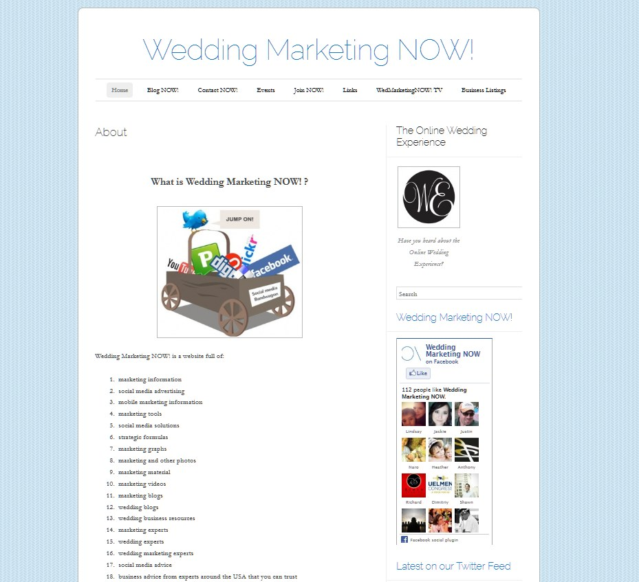 wedding marketing now front pageview