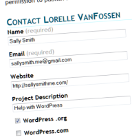 Contact Form Example.