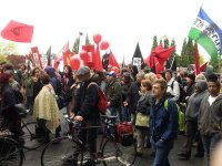 may day pdx protest parade marching by - lorelle