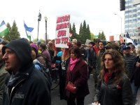 may day pdx protest parade save the 99 percent sign lorelle