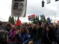 may day protest pdx chanting and sign carrying lorelle vanfossen
