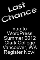 wordpress class summer 2012