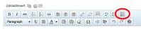 WordPress Kitchen Sink button on the visual editor in a WordPress post.