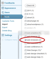 categories - check tag or category to convert in wordpress