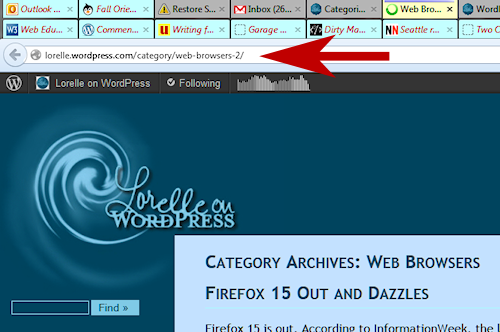 Example of WordPress adding a number 2 to the permalink category.