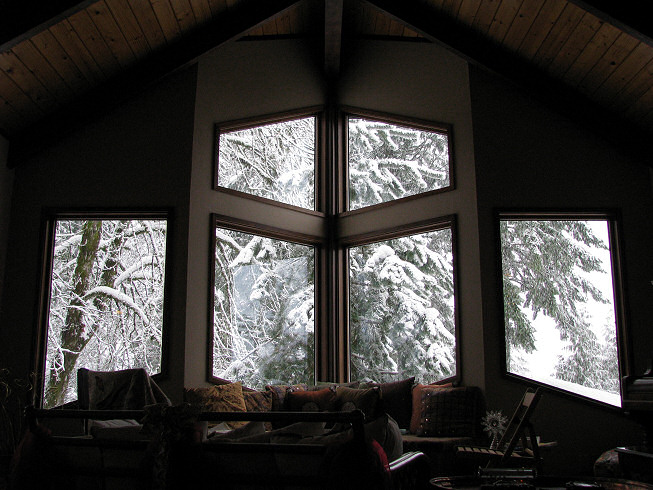 Front windows of house