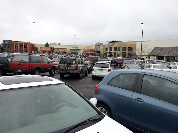Clackamas Mall Parking Lot - photography by Lorelle VanFossen