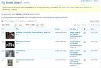 Example of the WordPress Media Library featuring all images in a list.
