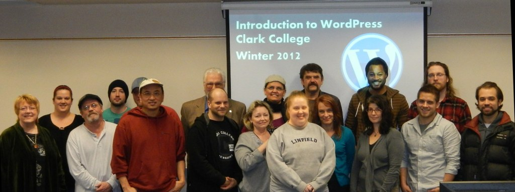 WordPress Class at Clark College - the first class!