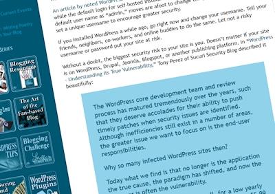 Example of a blockquote on Lorelle on WordPress.