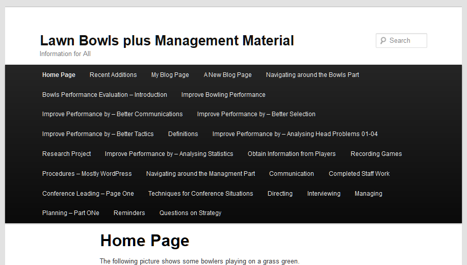 Example of using Pages in main menu - out of control navigation.