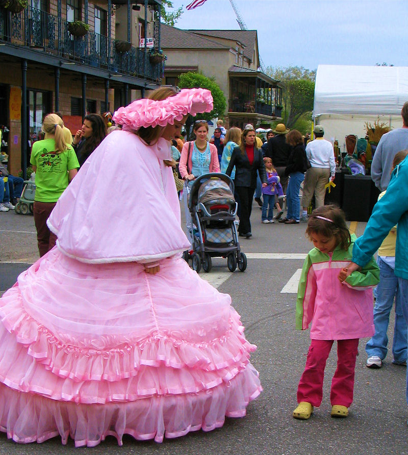 Summer brings out parades and princesses such as the Southern Bell Princesses of Mobile, Alabama - photograph coyright Lorelle VanFossen.