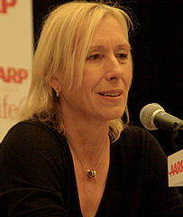 Martina Navratilova in 2011 from Wikipedia - WikiCommons.