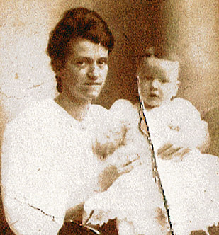 Louella Pinder Parret and son Howard W. West Sr., the only surviving photograph of mother and son.
