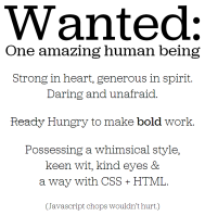 Photojojo Hiring one amazing human being job ad site.