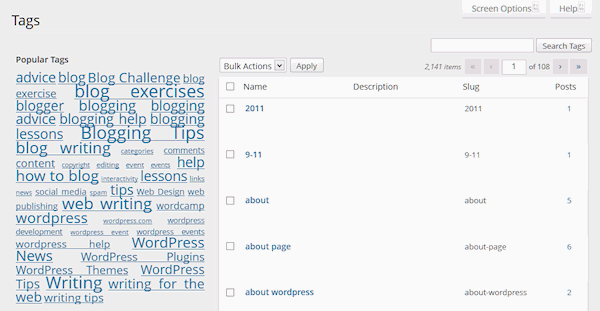 Tag panel in WordPress - Lorelle on WordPress.