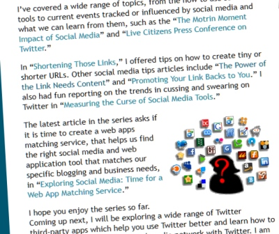 Example of using related content links to write an article about writing the articles - Lorelle of Lorelle on WordPress.