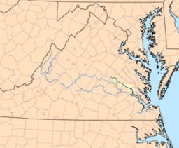 Chickahominy River, Virginia - Wikipedia Map.