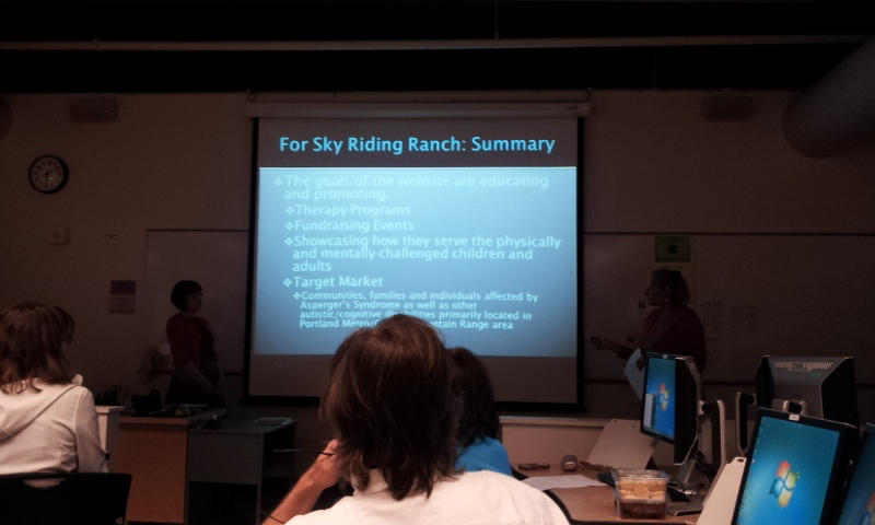 WordPress class finals - PCC Sky Riding Ranch presentation slideshow - class by Lorelle VanFossen
