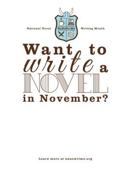 National Novel Writing Month - NaNoWriMo - poster.