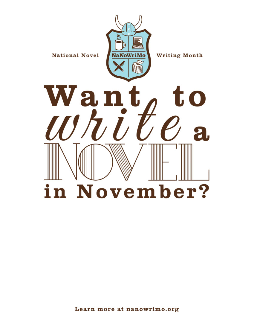 National Novel Writing Month - NaNoWriMo - poster.