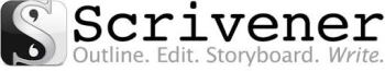 Scrivener editor and storyboard logo.