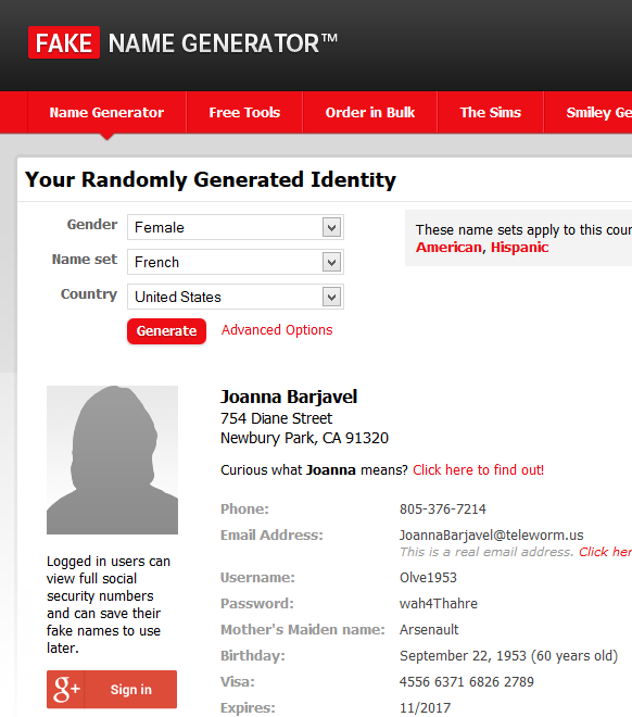 Generator Example « On Name Fake Lorelle Wordpress