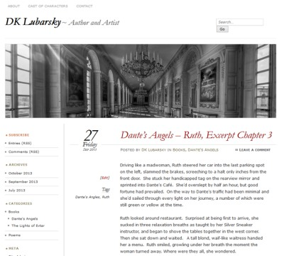 example of a blog model - diana lubarsky