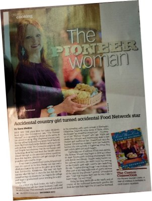 Ree Drummond The Pioneer Woman - featured in Costco Connection magazine.