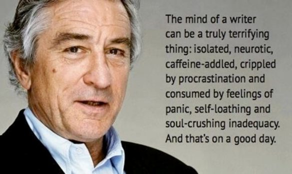 Robert De Niro, quote from Oscars 2014 Show about writers.