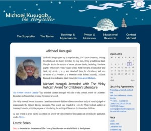Website example of a static site model- Michael Kusugak