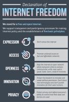 Insight Community - Declaration of Internet Freedom poster.