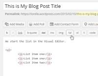 Lists – Close  the HTML list – Lorelle WordPressSchool