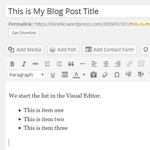 WordPress School – Lists « Lorelle on WordPress