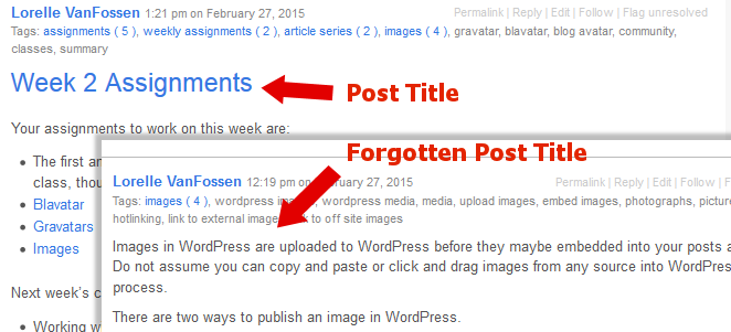 URLs - Forgetting the Post or Page Title - Lorelle WordPress School.