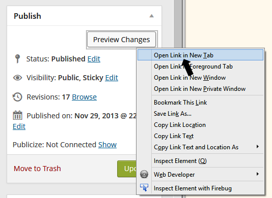 how to open links in new tab chrome