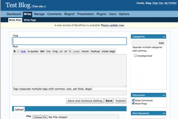 WordPress Interface v2.3.