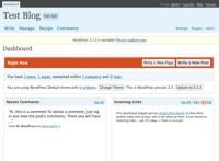 WordPress Interface version2.5-dashboard