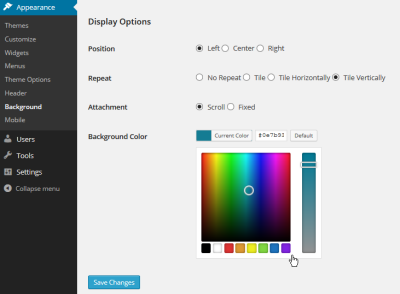 Background Image - Display Options - Lorelle WordPress School