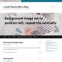 Background Image - Left and Tile Vertically - Lorelle WordPress School