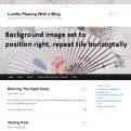 Background Image - Right and Tile Horizontally - Lorelle WordPress School