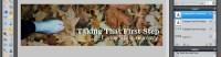 Image - Header Art with Photo - adding tagline in Pixlr - Lorelle WordPress School