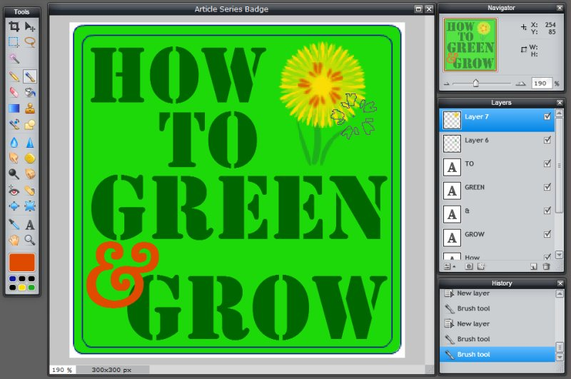 Images - Article Series Badge - Adding Color Brush to Flower in Pixlr - Lorelle WordPress School