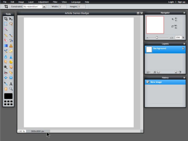 Images - Article Series Badge - Canvas blank in Pixlr - Lorelle WordPress School