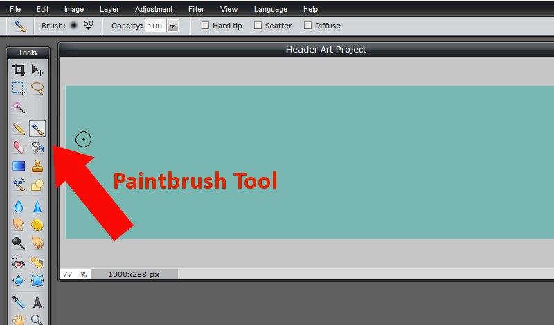 Images - Choosing the Paintbrush tool in Pixlr - Lorelle WordPress School