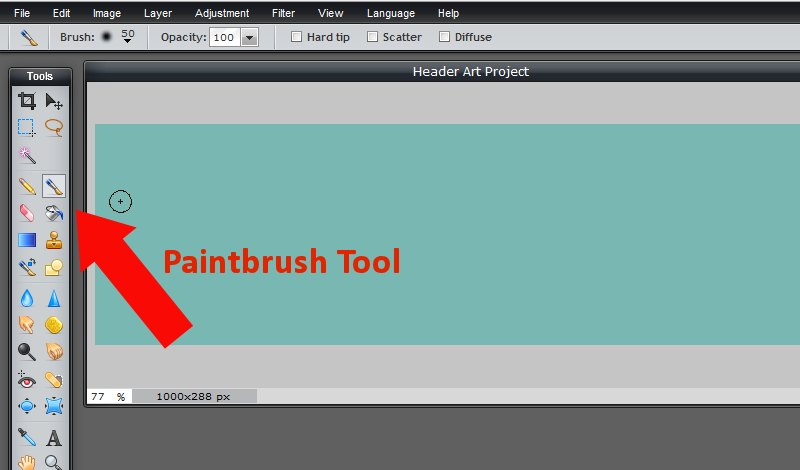Images - Choosing the Paintbrush tool in Pixlr - Lorelle WordPress School
