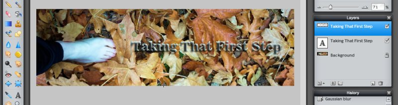 Images - Header Art with Photography - Shadow Layer over Text in Pixlr - Lorelle WordPress School
